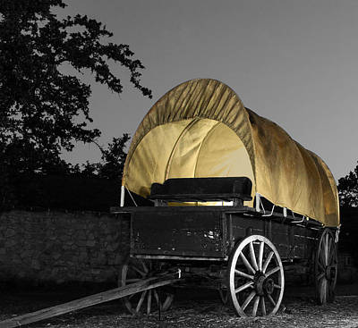 Light Painted Wagon Poster