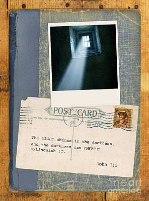 Light Through Window And Scripture Poster