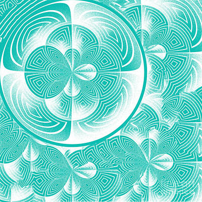 Light Turquoise Abstract Poster