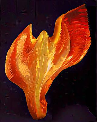 Light Warrior Goddess - Fire Poster by Artistic Mystic