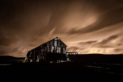 Lighted Barn Poster