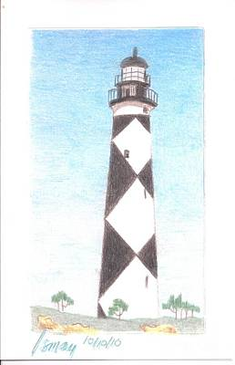 Poster featuring the painting Lighthouse 3 by Rod Ismay