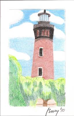 Poster featuring the painting Lighthouse 4 by Rod Ismay