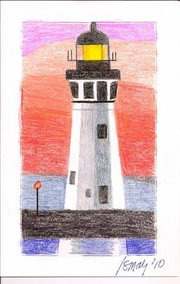 Poster featuring the painting Lighthouse 5 by Rod Ismay