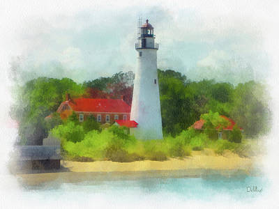 Lighthouse And Beach Poster