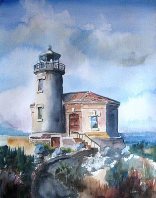 Lighthouse At Bandon Poster