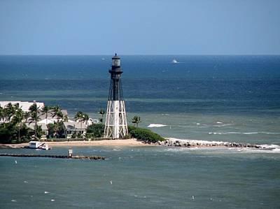 Lighthouse At Hillsboro Beach, Florida Poster