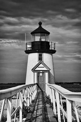 Lighthouse At Nantucket Island II - Black And White Poster by Hideaki Sakurai