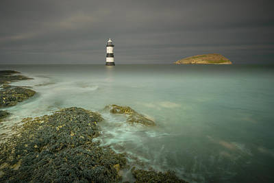 Lighthouse At Penmon Point Poster by Andy Astbury
