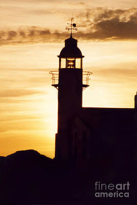 Lighthouse At Sunset Poster