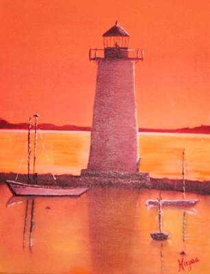 Lighthouse Poster by Barbara Hayes