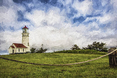 Lighthouse In The Clouds II Poster by Jon Glaser