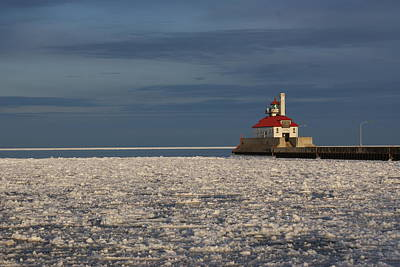 Poster featuring the photograph Lighthouse In Winter by Ron Read