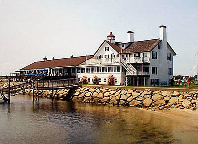 Poster featuring the photograph Lighthouse Inn At Bass River by Frederic Kohli