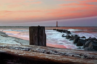 Lighthouse Jetties Poster by Drew Castelhano