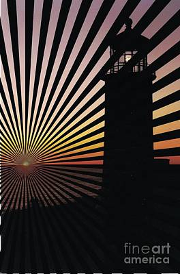 Lighthouse Lines Poster by RJ Aguilar