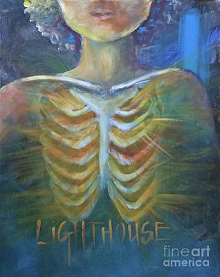 Poster featuring the painting Lighthouse by Lisa DuBois