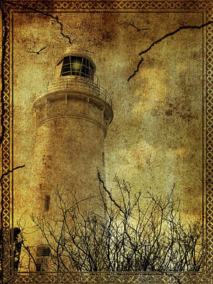 Poster featuring the digital art Lighthouse by Margaret Hormann Bfa
