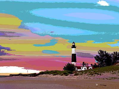 Lighthouse On Lake Michigan Poster