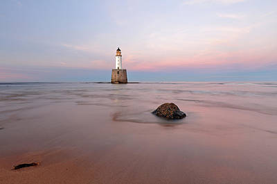 Poster featuring the photograph Lighthouse Sunset Rattray Head by Grant Glendinning