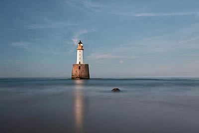 Poster featuring the photograph Lighthouse Twilight by Grant Glendinning