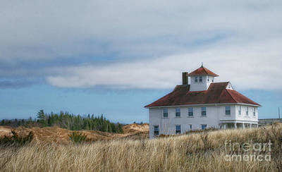 Poster featuring the photograph Lighthouse Residence by Gina Cormier