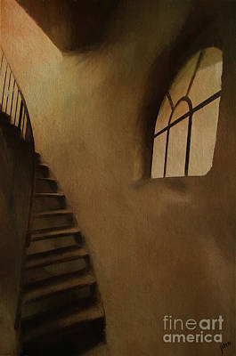 Poster featuring the photograph Lighthouse Stairs by Jim  Hatch