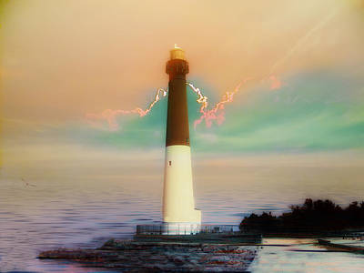 Lighthouse Sunrise Poster by Bill Cannon