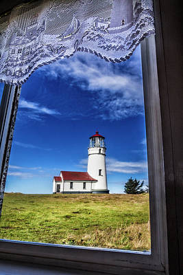 Lighthouse Through The Window Poster