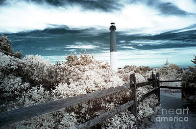Lighthouse Walk Infrared Poster by John Rizzuto