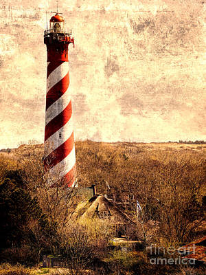 Lighthouse Westerlichttoren Poster by Daniel Heine
