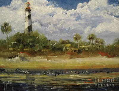 Lighthouse Whispers Poster by Mary Hubley