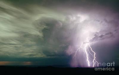 Lightning Poster by B. G. Thomson