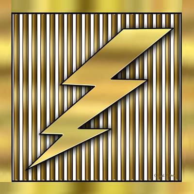 Lightning Bolt Poster by Chuck Staley