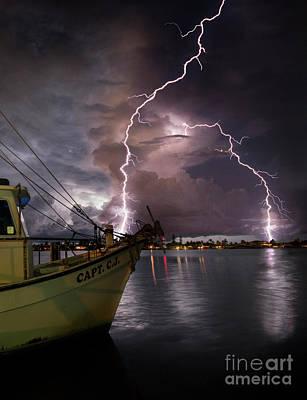 Lightning On The Capt. Cj Poster