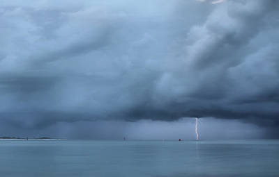 Lightning On The Gulf Stream  Poster