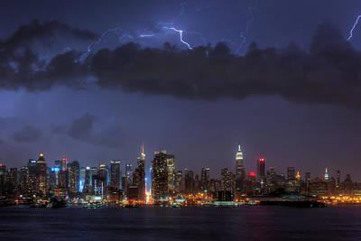 Lightning Over New York City I Poster