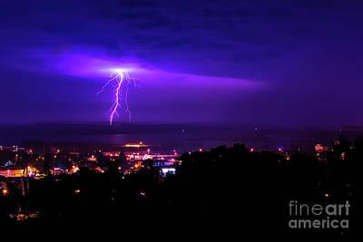 Lightning Over Superior Poster