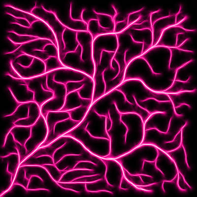 Poster featuring the digital art Lightning - Pink by Shane Bechler