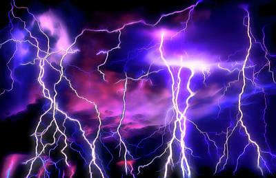 Lightning Storm 1 Poster by Steve Ohlsen