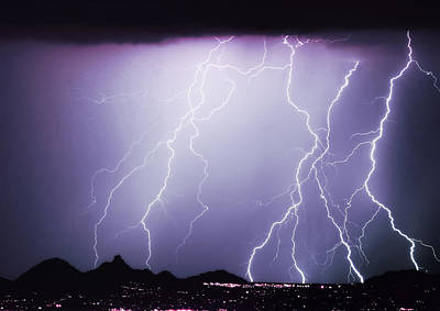 Lightning Storm North Scottsdale Az 85255 Poster by James BO  Insogna