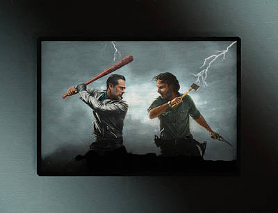 Lightning Striking Again - Painting Poster