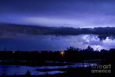 Lightning Thunderstorm July 12 2011 St Vrain Poster