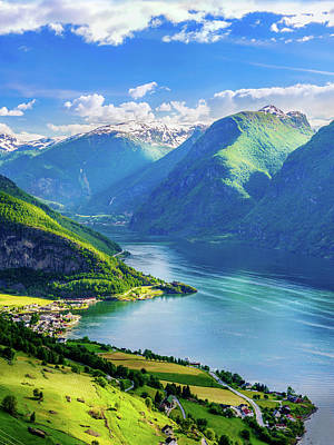 Poster featuring the photograph Lights And Shadows Of Sognefjord by Dmytro Korol