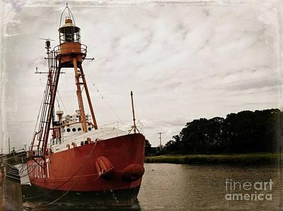 Lightship Nantucket Wlv-613 At Wareham Poster