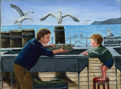 Poster featuring the painting Like Father by Gail Finn