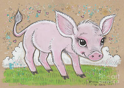 Lil Piglet Poster by Maria Bolton-Joubert