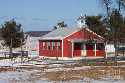 Lil Red School House Poster by Robert Sander