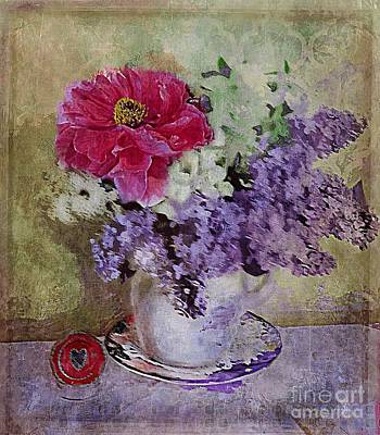 Poster featuring the digital art Lilac Bouquet by Alexis Rotella