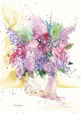 Poster featuring the painting Lilac Explosion by Sandra Strohschein